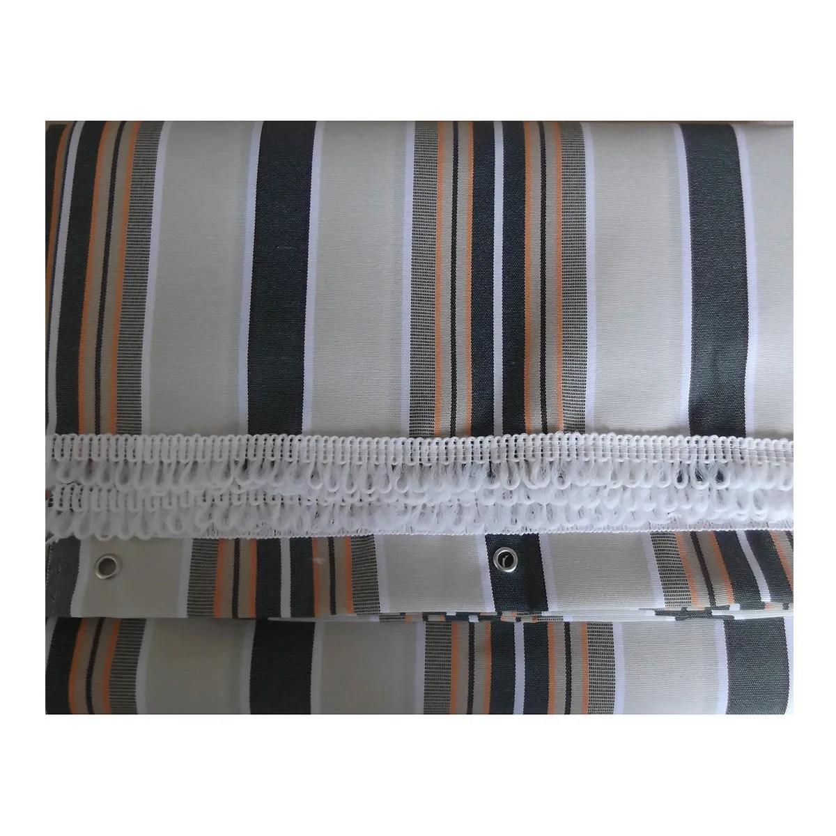 Binari abbinati per guarnitura porte scorrevoli 40/80 kg argento. Tenda Da Balcone 300x140 Cm Rigato Verde Bricoman