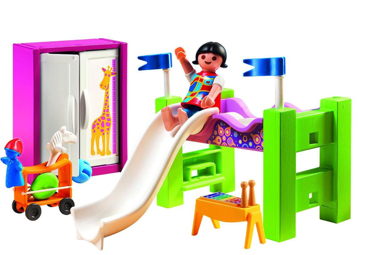 Playmobil 5579 Dormitorio Con Litera Tobogn Y Ms