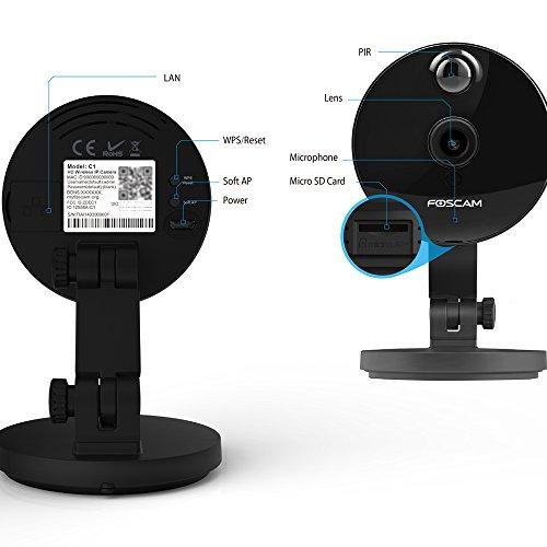 Foscam-C1-Cmara-IP-de-vigilancia-de-interior-10-MP-funcin-P2P-720p-H264-WIFI-seguridad-alarma-deteccin-movimiento-visualizacin-remota-compatible-con-iOS-y-Android-slot-tarjeta-Micro-SD-color-negro-0-5