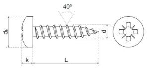 Tornillos para madera DIN-7505B