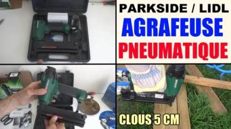 agrafeuse pneumatique air comprime parkside pdt 40 d3 - pneumatic stapler - druckluft-tacker