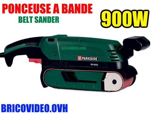 Lidl Ponceuse à Bande Parkside Pbs 900w Accessoires Test