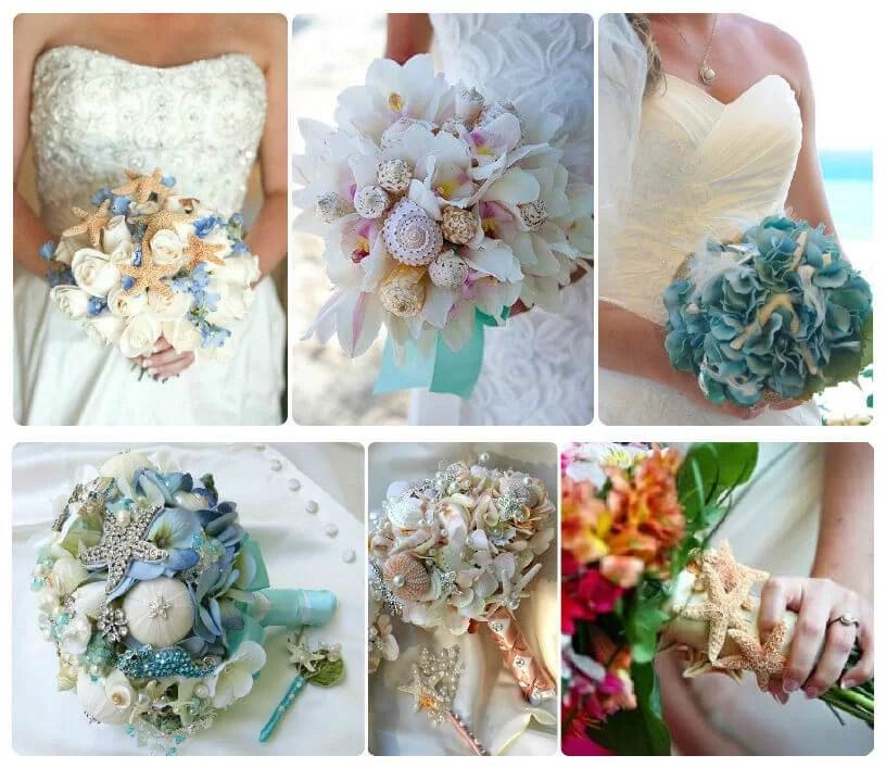 ramos de novia con inspiración marinera