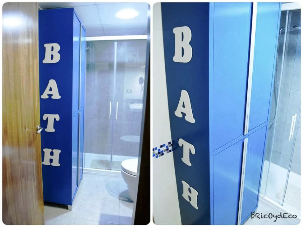 renovación baño con mueble DIY