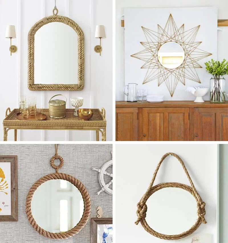 decorar espejo con cuerda