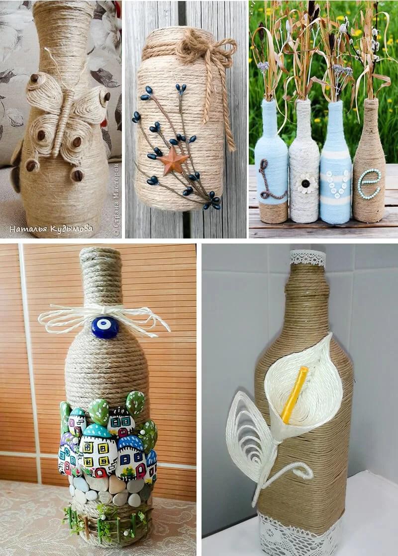 55 mejores ideas para decorar con cuerdas enenero for Ideas para decorar botellas