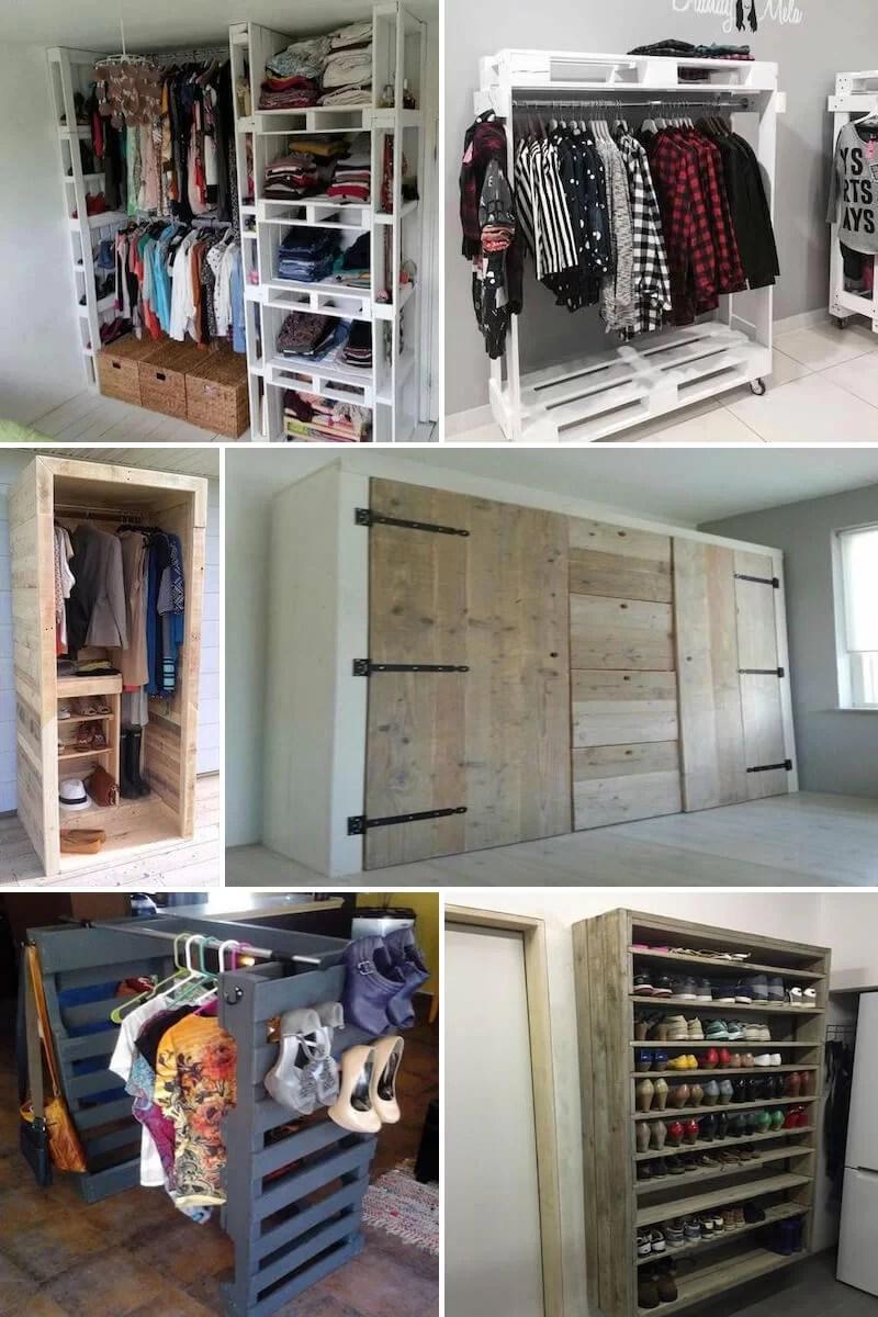 ideas de armarios hechos con palets