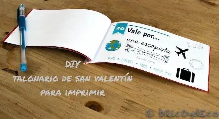 Talonario De San Valentín Para Imprimir Plantilla Descargable Gratuita
