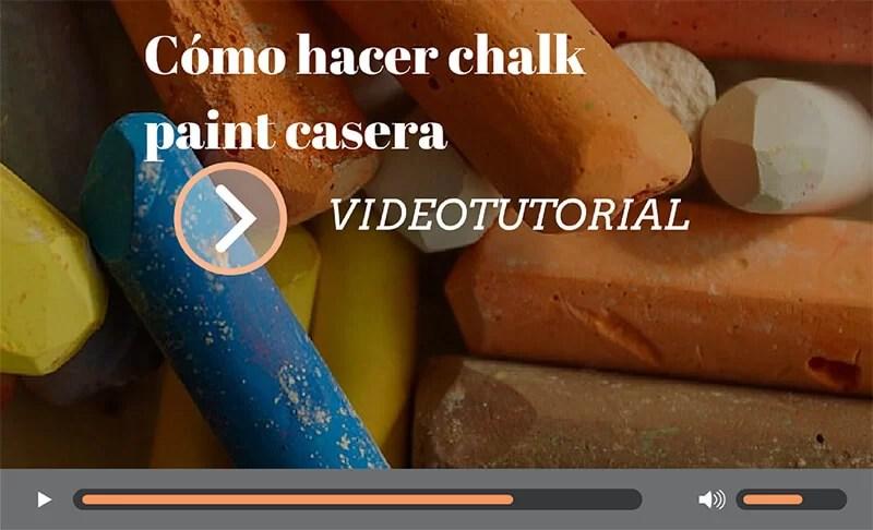 receta chalk paint casera