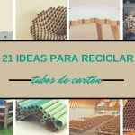 ideas para reciclar tubos de cartón