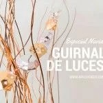 guirnalda de luces DIY