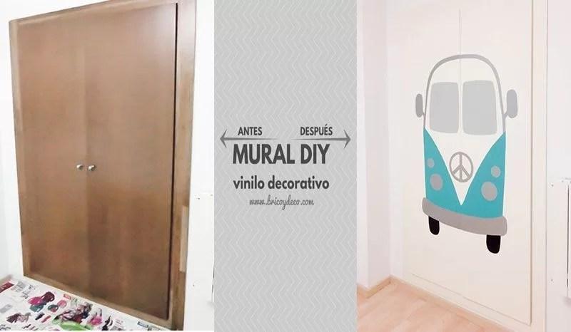 cómo hacer un mural de vinilo