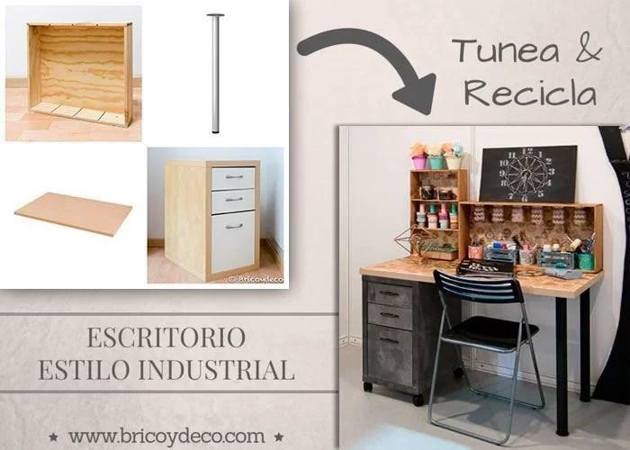 escritorio estilo industrial DIY