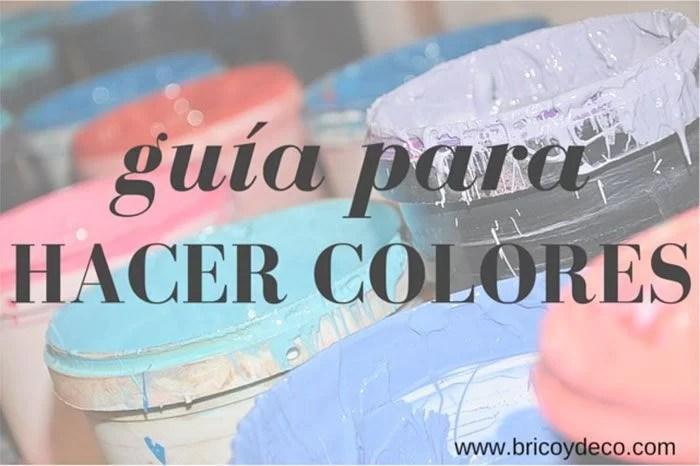 como hacer color marron claro con acrilicos