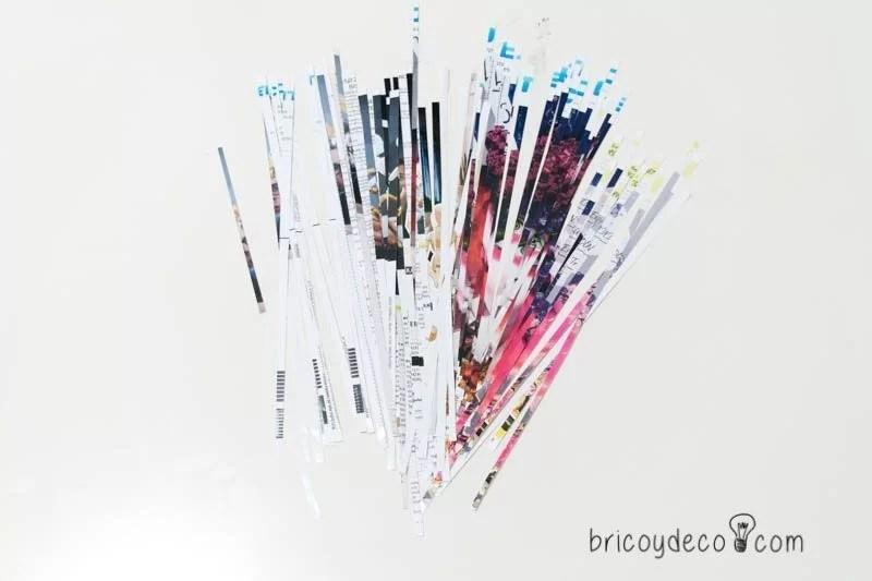 reciclar tus revistas haciendo tiras de papel