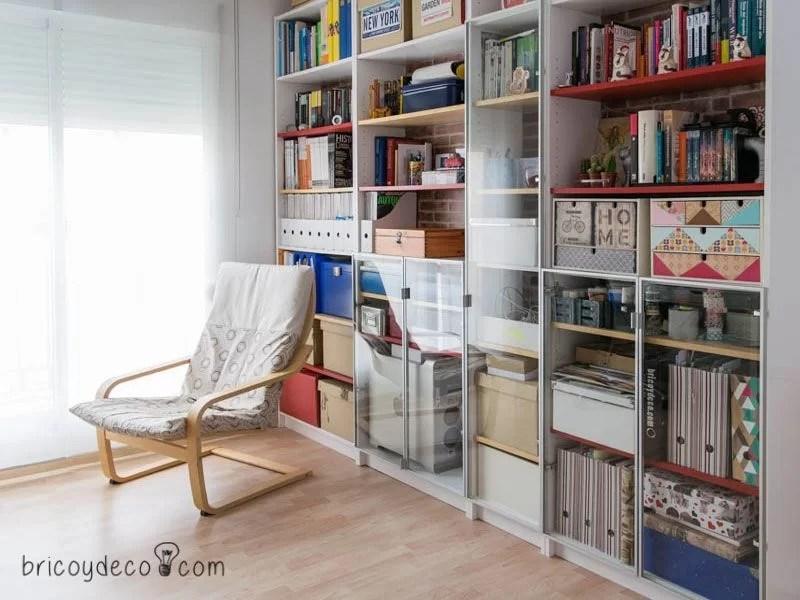 Ikeahack antes y despu s de tunear la librer a billy de for Tunear muebles