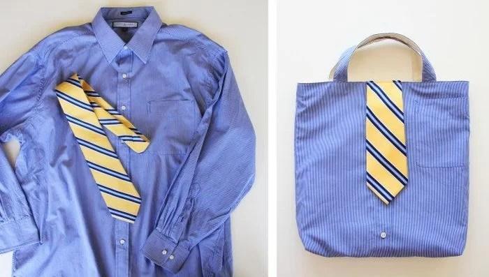 reciclar una camisa en un bolso