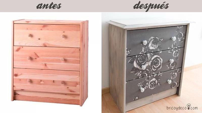 C mo personalizar la c moda rast con chalk paint y tela - Muebles la comoda ...
