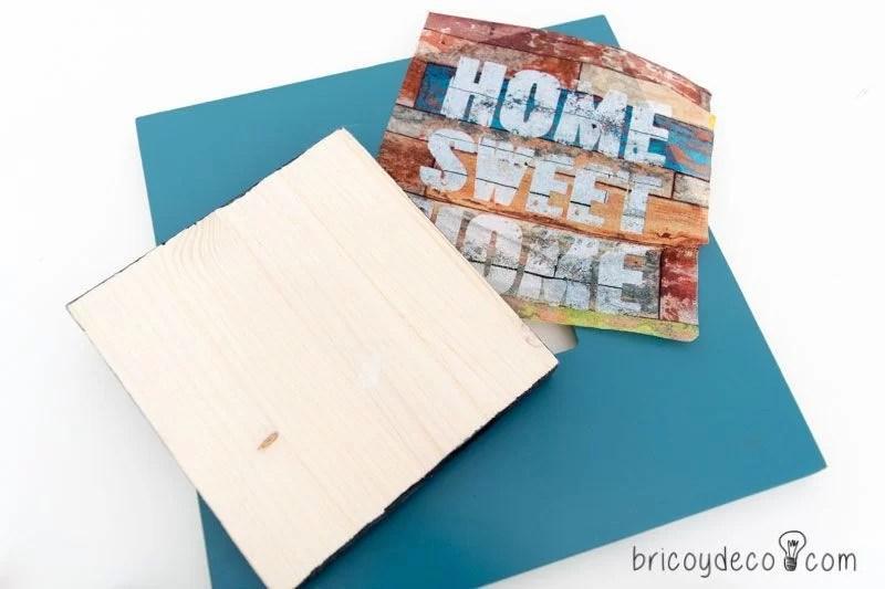 reciclar para decorar con sobrantes de madera y marcos de saldo