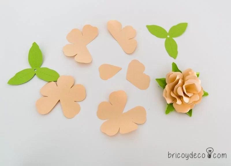 cmo hacer un cuadro con rosas de papel - Como Hacer Rosas De Papel