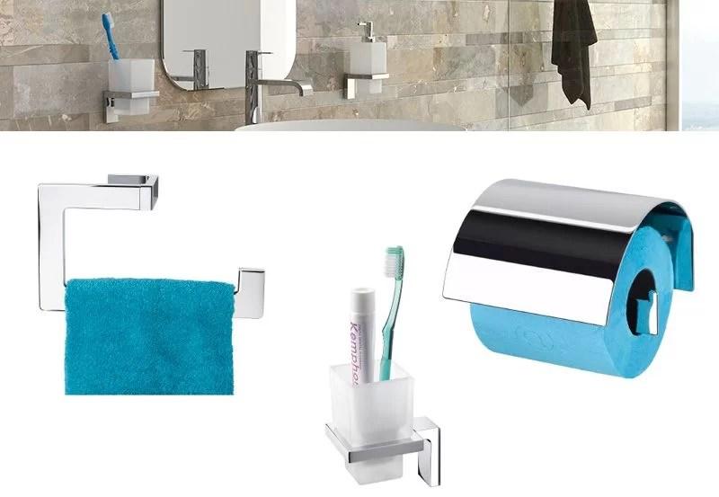 accesorios de baño de instalación dual