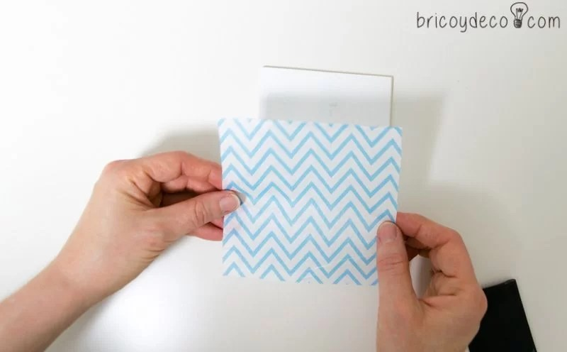 azulejos DIY con servilletas de papel