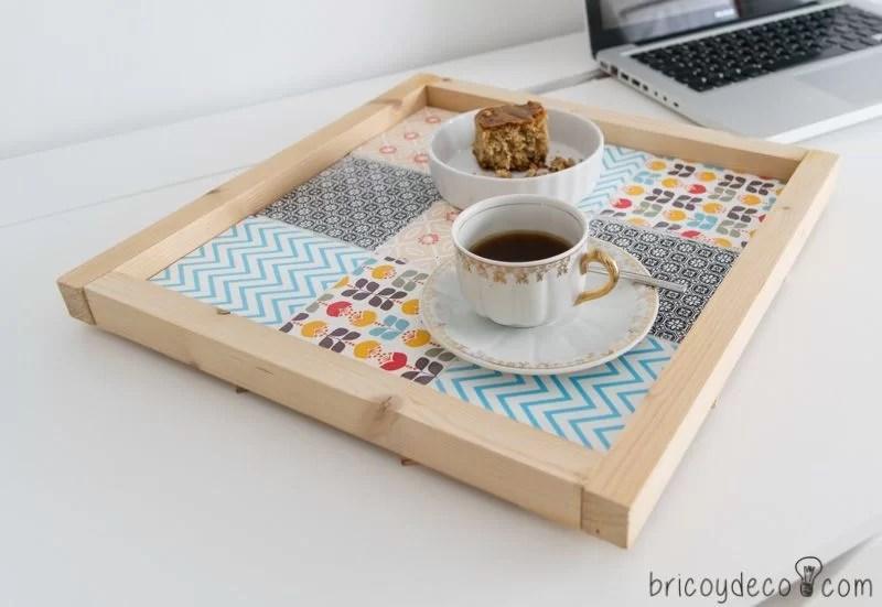 bandeja de azulejos DIY