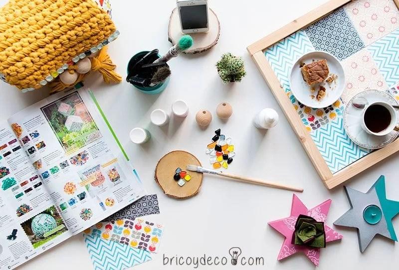 bandeja con azulejos DIY
