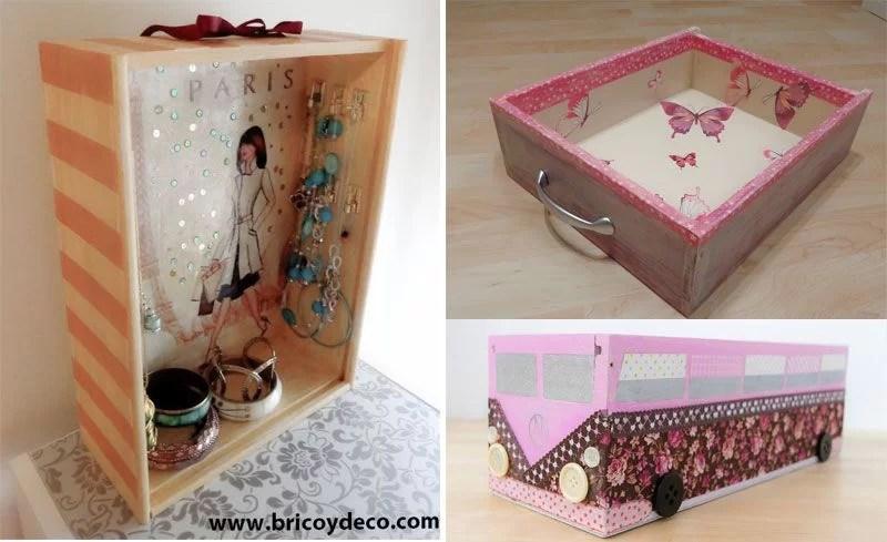 direrentes formas de reciclar una caja de vino