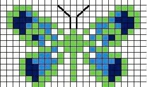 patrón mariposa punto de cruz