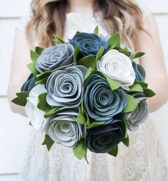 ramos de novia de fieltro