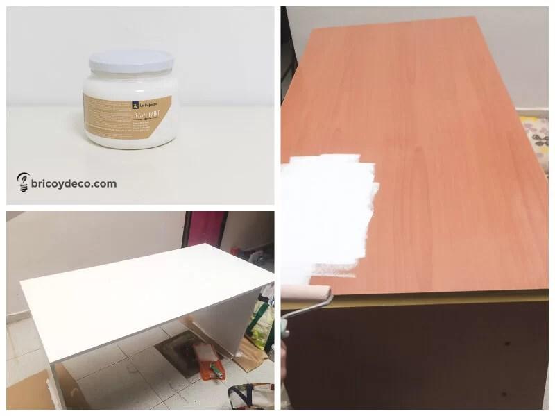 pintar una mesa de melamina