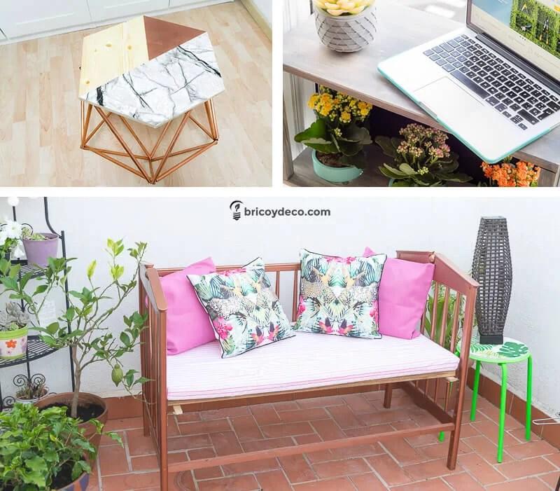 3 muebles diy para terraza y jard n que puedes hacer por for Muebles balcon terraza
