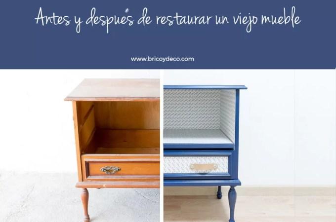 Bricoydeco y algo m s bricolaje creativo y decoraci n - Pintar un mueble viejo ...