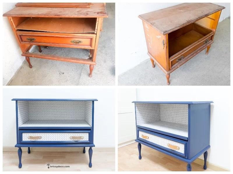 restaurar mueble viejo antes y después