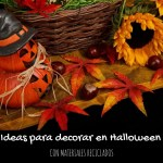 ideas de decoración en Halloween con materiales reciclados