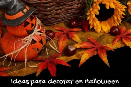 ideas de decoración en Halloween con materiales reciclados