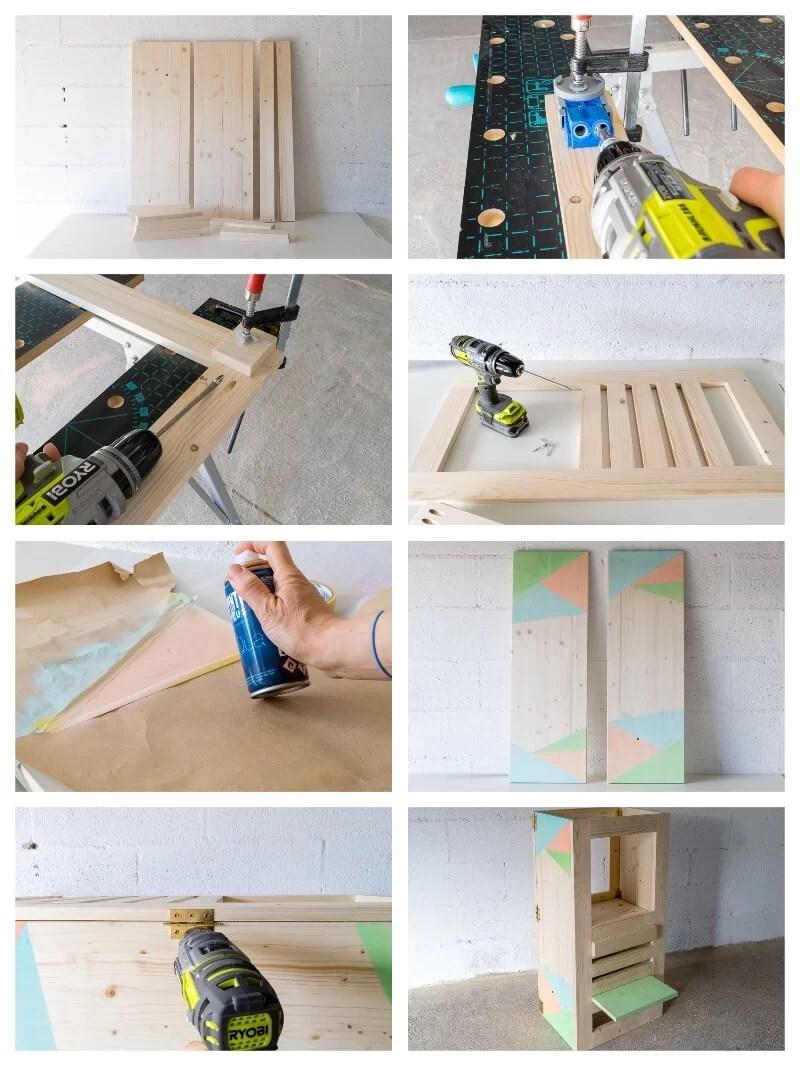 torre de aprendizaje Montessori DIY