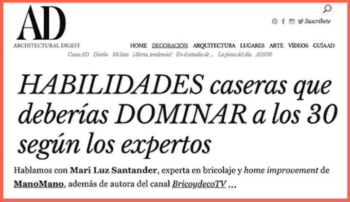 Mari Luz Santander experta en bricolaje casero