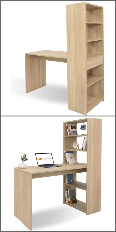 librería con escritorio integrado