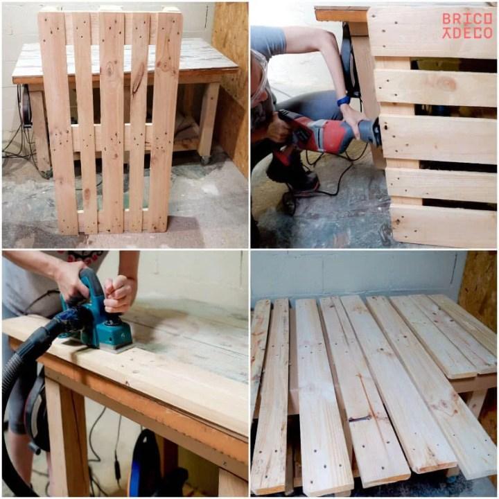desmontar un palet para hacer mobiliario
