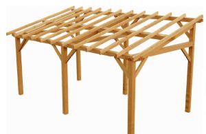 un abri de jardin en bois
