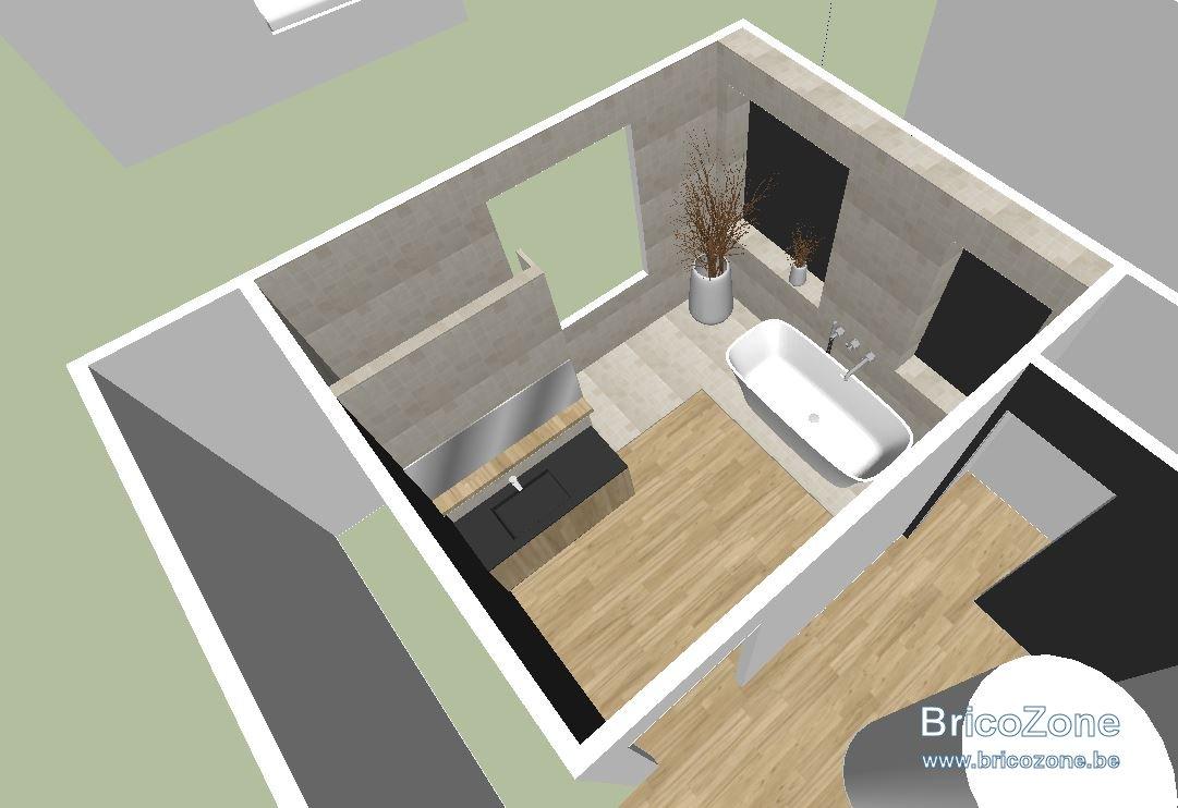 bains a l etage sur plancher bois