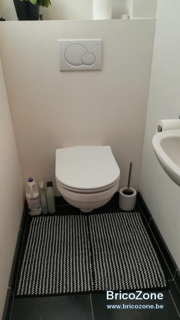 carreler un wc suspendu