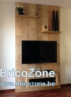diy meuble tv et mur de fond