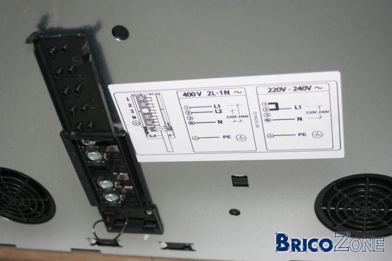 urgent branchement table induction