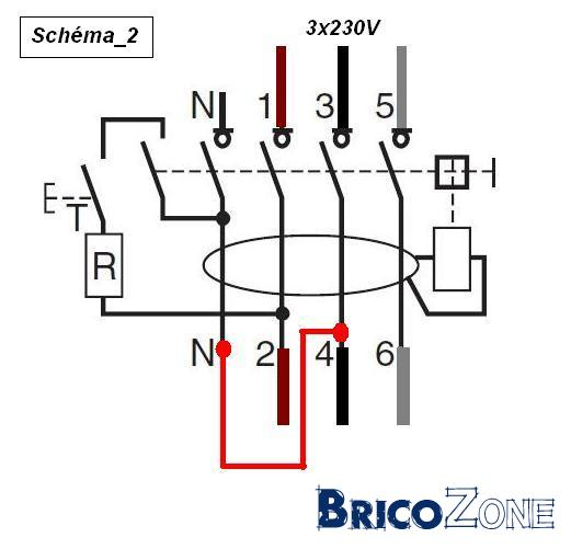 schema branchement contacteur telemecanique triphase
