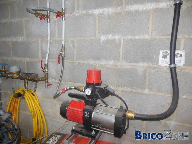 filtre a la pompe de la citerne d eau
