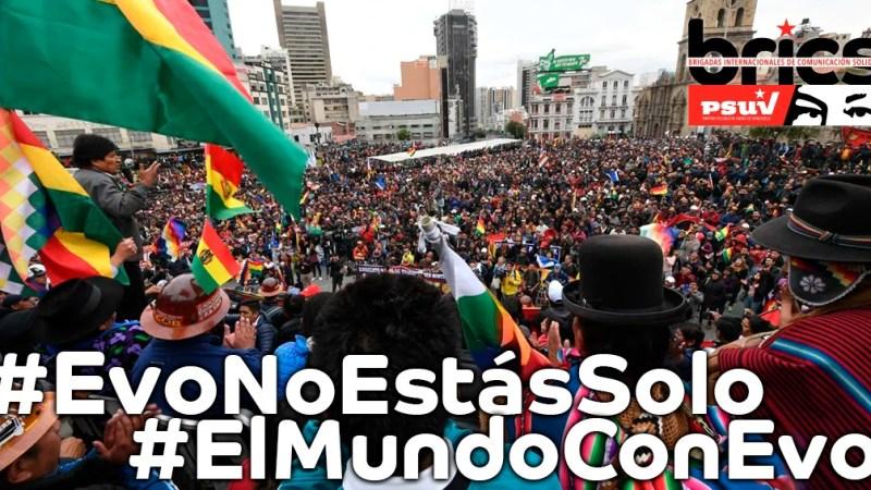 Comunicado PSUV: ¡Evo y el Pueblo Boliviano No Están Solos!