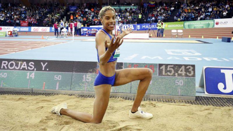 La venezolana Yulimar Rojas bate el récord mundial en triple salto